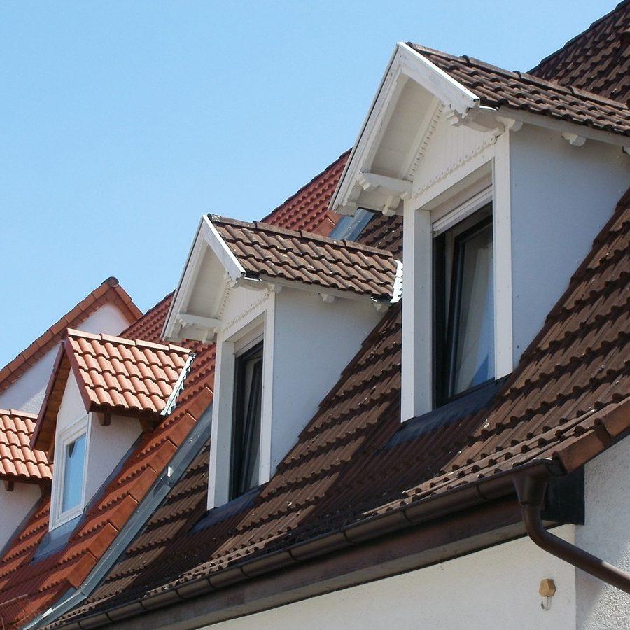The dormer window is chosen by house builders