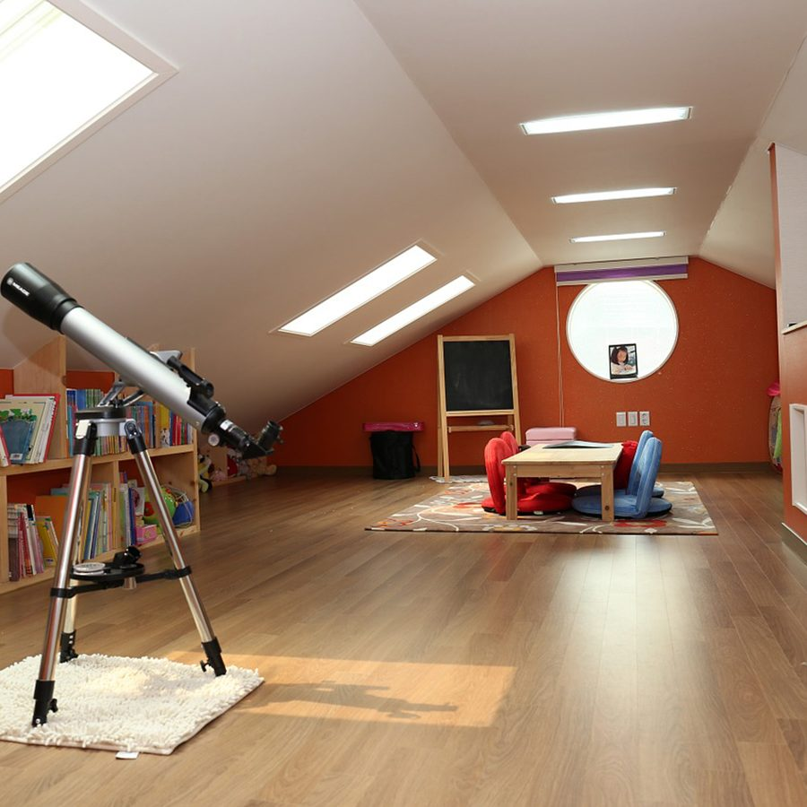 inside design for a loft conversion in south London